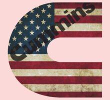 Cummins American Flag Kids Tee