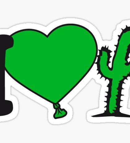 i love love heart cactus nature desert gardener plants gardening green thumb Sticker