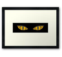 Eyes in the dark Framed Print