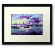 Seaside Sunset Framed Print