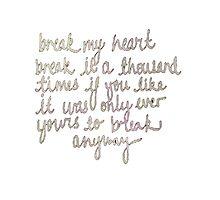 break my heart Photographic Print