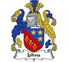 Johns Coat of Arms / Johns Family Crest Photographic Print