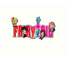 Chibi Characters Fairy Tail, Anime Art Print
