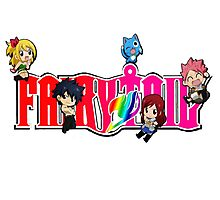 Chibi Characters Fairy Tail, Anime Photographic Print