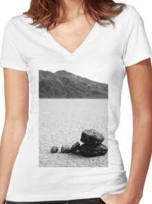 Racetrack Zen Stones Women's Fitted V-Neck T-Shirt