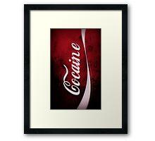 TRY COCAINE Framed Print