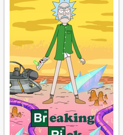Breaking Rick Parody Sticker