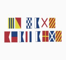 Go Navy, Beat Army in Signal Flags One Piece - Short Sleeve