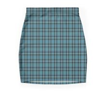 00431 Angle Blue Tartan  Mini Skirt
