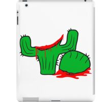 horror halloween bloody murder from head decapitated blood evil cactus comic cartoon iPad Case/Skin