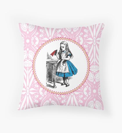 Alice in Wonderland | Drink Me Throw Pillow
