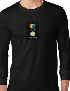 Rainbow Heart Love to the Moon Long Sleeve T-Shirt