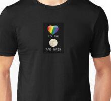 Rainbow Heart Love to the Moon Unisex T-Shirt