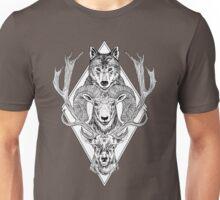 Wolf Ram Hart Unisex T-Shirt