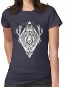 Wolf Ram Hart Womens Fitted T-Shirt