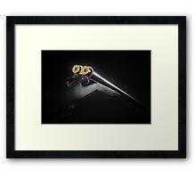 Side By Side Shotgun Framed Print