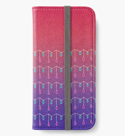 Droplets, Pink and Purple iPhone Wallet