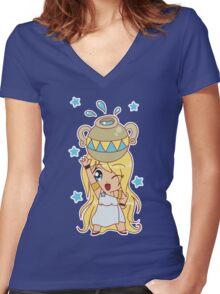 Aquarius Cutie Women's Fitted V-Neck T-Shirt