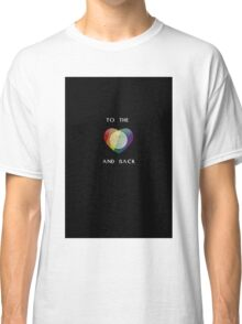 To the Moon Pride Heart Classic T-Shirt