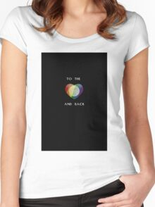To the Moon Pride Heart Women's Fitted Scoop T-Shirt