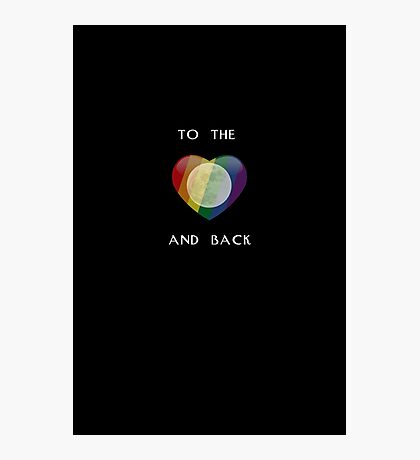 To the Moon Pride Heart Photographic Print