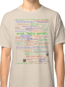 Hello World - Many Programming Languages Classic T-Shirt