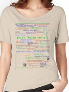 Hello World - Many Programming Languages Women's Relaxed Fit T-Shirt