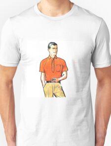 Pop Art Retro Modern Male Portrait with Pipe Unisex T-Shirt