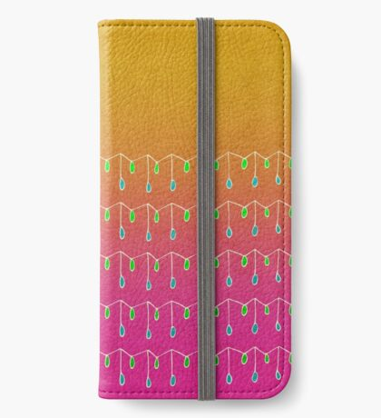 Droplets, Orange and Pink iPhone Wallet