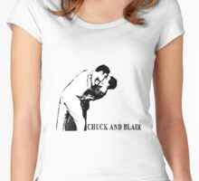 Chuck and Blair - I do Women's Fitted Scoop T-Shirt