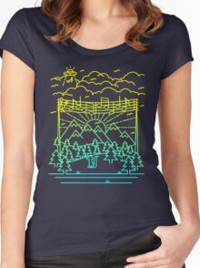 Mountain Notes Women's Fitted Scoop T-Shirt