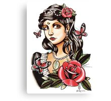 Butterfly Girl - tattoo Canvas Print