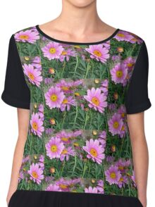 SPRINGFLOWERS - ENCHANTED PINK DAISIE DREAM -  Chiffon Top