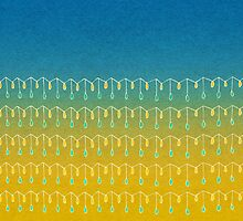Droplets, Blue and Yellow by Janet Antepara