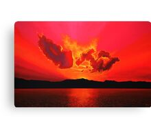Earth Sunset Painting Canvas Print