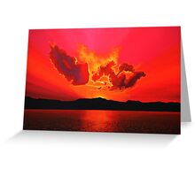 Earth Sunset Painting Greeting Card