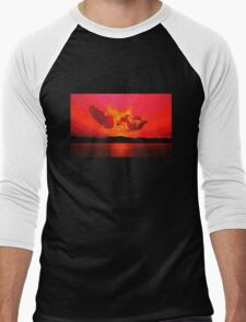 Earth Sunset Painting Men's Baseball ¾ T-Shirt