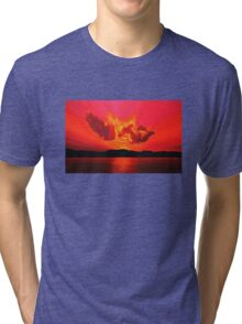 Earth Sunset Painting Tri-blend T-Shirt