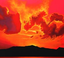 Earth Sunset Painting Sticker