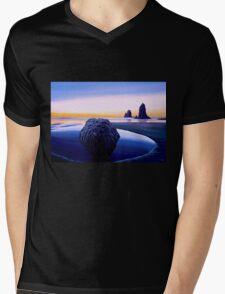 Earth Sunrise Painting Mens V-Neck T-Shirt