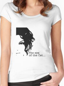 The eye of the Cat Women's Fitted Scoop T-Shirt