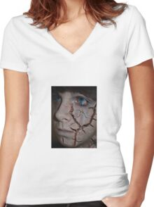 Broken Doll Women's Fitted V-Neck T-Shirt