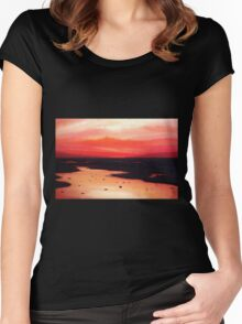 Earth Swamp Painting Women's Fitted Scoop T-Shirt