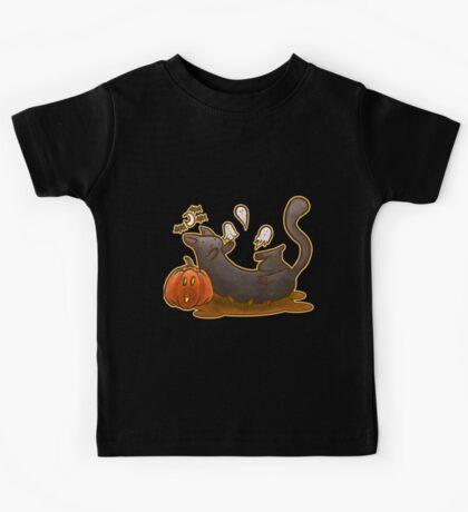 Playful Halloween Kitty Kids Tee