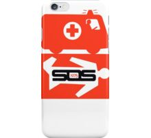 Vintage SOS 1975 Decal Ambulance iPhone Case/Skin