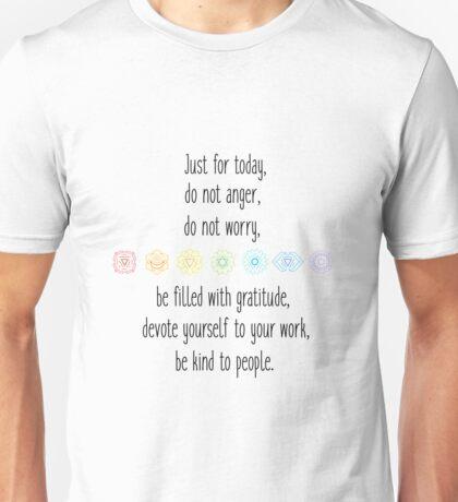 Reiki principles Unisex T-Shirt