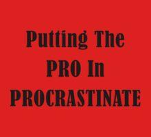 Procrastinate One Piece - Short Sleeve