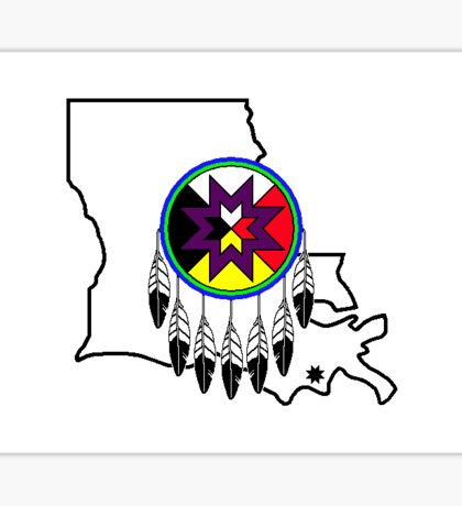 Flag of Biloxi Chitimacha Choctaw of Louisiana Sticker
