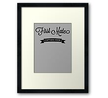 Once Upon a Time - Captain Hook - First Mate Framed Print