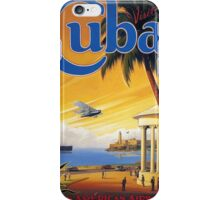 Visit Cuba Pan American Airlines Vintage Travel Poster iPhone Case/Skin
